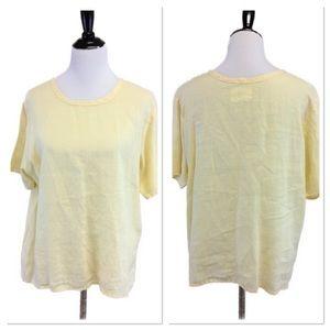 S FLAX light yellow linen top